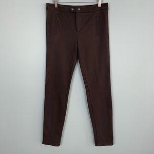 Vince Olive Brown Stretchy Knit Skinny Pants